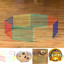 Small Animal Hamster Pet Portable Indoor Outdoor Exercise Play Pen Fence Cage