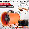 12Inch Industrial Extractor Fan Blower +5M Duct Hose Underground Ventilation