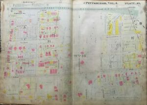 1911 POINT BREEZE PITTSBURGH PA HENRY CLAY FRICK MANSION HOMEWOOD STA. ATLAS MAP