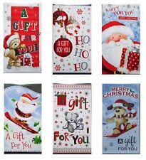 6 Assorted Christmas Money Wallets Self Seal Envelope Xmas Gift Card Cash Cute