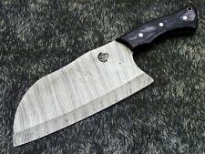 "Custom Handmade Damascus Steel Blade 12.5"" HARD WOOD CLeaver Knife- WD-9154"