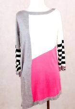 WHBM Color Block Pullover Sweater Pink/White/Grey; $88; NWT; Size M; Casual Work