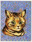 Louis Wain print MY WALLPAPER SAD KITTEN funny cat illustration art