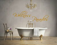 Wandtattoo Wellness Paradies BAD BADEZIMMER Wandsticker,Fliesen Aufkleber
