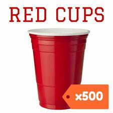 500 American Red Party Cups Plastic beer solo supplies pong 425ml USA frat