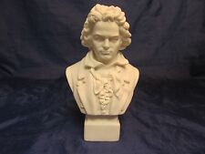 "Antique Parian Porcelain BEETHOVEN Bust 8"" R&L Robinson Leadbeater"