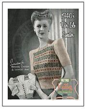 1940s Fair Isle Sweater Knitting Pattern