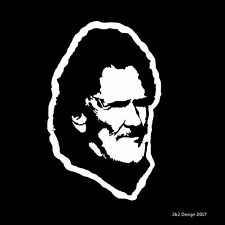 Kris Kristofferson Country Singer Songwriter Music Car Guitar Decal Sticker