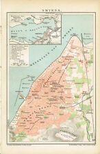 Stadtplan von SMYRNA / IZMIR 1895 Original-Graphik
