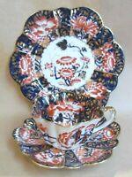 WILEMAN FOLEY 6888 JAPAN BLUE PATTERN IMARI TEA TRIO (Ref4655)