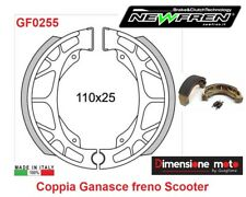 0255 - Coppia Ganasce Freno Posteriori NEWFREN per PEUGEOT SV Geo 125 dal 1991