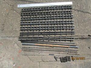 4 three ft Bassett Lowke 0 Gauge Vintage 3 Rail straight track with spares