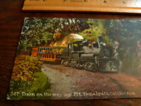 1913 Steam Train Mt Tamalpais railway California historic POSTCARD RPPC