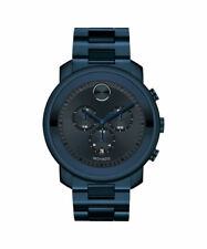 Movado Bold Chronograph Navy Blue Stainless Steel Men's Watch (3600279)