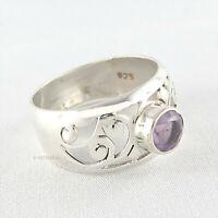 925 Silber Ring - Silberring mit Amethyst lila Fingerring Damenring Amethystring