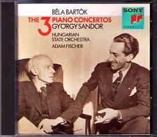 György SANDOR: BARTOK Piano Concerto 1 2 3 Adam Fischer CD SONY Klavierkonzerte