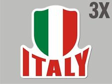 3 Italy Italian shaped sticker flag crest decal car bike Stickers CN053
