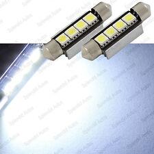Xenon White 42mm 4-Smd Error Free 578 211-2 6411 Led Dome Light (2 Pieces)(Fits: Neon)