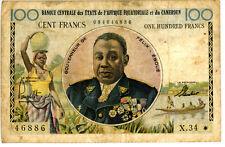 Cameroun ... P-1e ... 100 Francs ... ND(1961-62) ... *VG/F* ... RARE