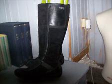 belles bottes ESPRIT daim et cuir noir .très bon état .taille 37. (V/23/G)