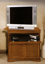 MOBILE PORTA TV IN LEGNO ARTE POVERA CON PIANO GIREVOLE