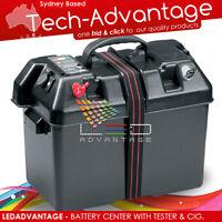 PORTABLE BOAT CARAVAN CAMPING BATTERY CONDITION POWER INDICATOR BOX & SOCKETS