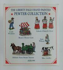 🆕Liberty Falls Pewter Collection Ah199 Flower Cart Choir Steam Train Cody & Amy