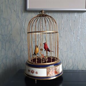 ****TOP Angebot ****Eschle-Singvogelautomat Emailliert 2 Vögel