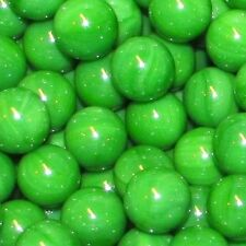 "Mega Fun One Dozen 1"" (25mm) Opaque Green Glass Marbles 66412134"