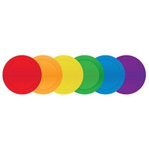 BNWT Pack of 6 Throw Down Spots, 22cm Diameter Vinyl Disc Floor Markers