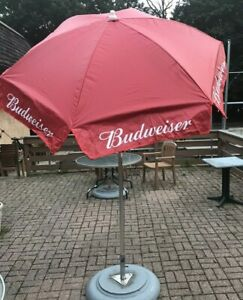 7/' New Budweiser Vinyl Wide Patio Beer Umbrella Party Angle Option Beach Bar