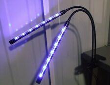2 Head LED Plants Grow Light for Indoor UV Veg Growing USB Lamp