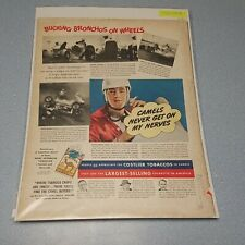 New listing 1938 Camel Cigarettes Ad - Ernest Gessell, Jr. Man Cave