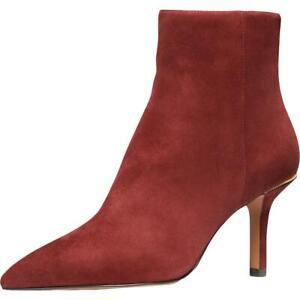 MICHAEL Michael Kors Womens Katerina  Red Booties 5.5 Medium (B,M) BHFO 5238