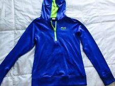 Girl's Young Sweatshirt hoodie Fila Sport Blue long sleeve med10-12  pullover