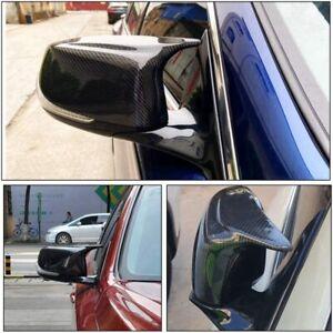 Carbon Fiber Side Mirror Cover Caps For Infiniti Q50 Q60 QX30 Q70 2014-2021