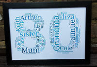 Personalised 80th Birthday Gift Keepsake Grandad 18th 21st 30th 40th 50th 60th