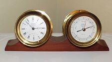 Vintage Maritime Wempe Chronometerwerke Clock & Barometer - Hamburg Germany