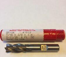 """End Mill(19Q)Quinco SF-14 7/16""""x3/8""""x1""""x2-11/16""""oal. 4Flute SE. Edp41013 (G-2-9)"""