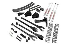 "Ford F250 F350 6"" 4-Link Lift Kit 2005-2007 4WD (Gas WITH Overloads)"