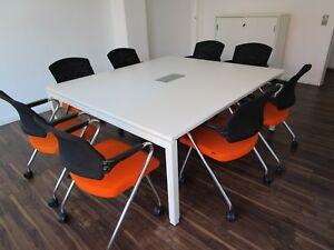 KINNARPS / SAMAS Design Konferenztisch INTIME 160 x 160 cm - weiß