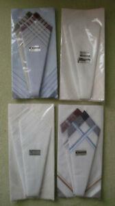 12 Stück Herren Taschentücher Stofftaschentücher, 100% Baumwolle, Rein Mako NEU