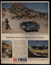 1958 FORD In Turkey - Afghanistan - Convertible Car - San Francisco - VINTAGE AD