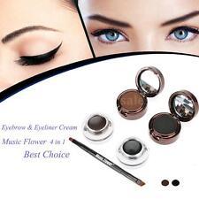Music Flower Pro 4in1 Eyebrow & Eyeliner Cream Waterproof Cosmetic Set B2UG