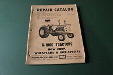 Vintage Minneapolis Moline Tractor Model G 1000 Servicerepair Manual R 2112b