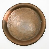 ANTIQUE HEAVY SOLID COPPER HAND BEATEN ARTS & CRAFTS MOVEMENT TRAY