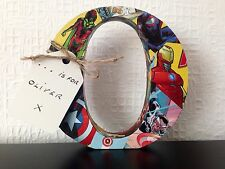 Marvel DC Comic Covered Name Any Letter/Number Personalise Valentines Day Gift