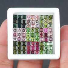 VVS [19.10 Cts/81] Supreme Quality Natural Tourmalines Square Cut Certified Lot