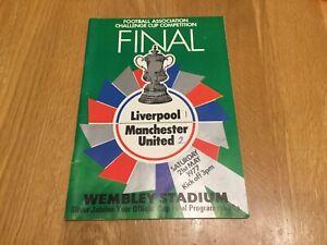 1977 FA Cup Final. Liverpool v Man Utd . @ Wembley.    good