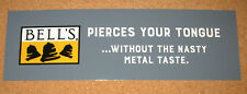 BELL'S Brewery Bumper Sticker Beer Logo Advertising NEW Gray Pierces Your Tongue